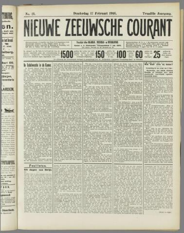 Nieuwe Zeeuwsche Courant 1916-02-17