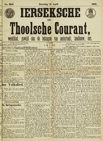 Ierseksche en Thoolsche Courant 1891-04-11