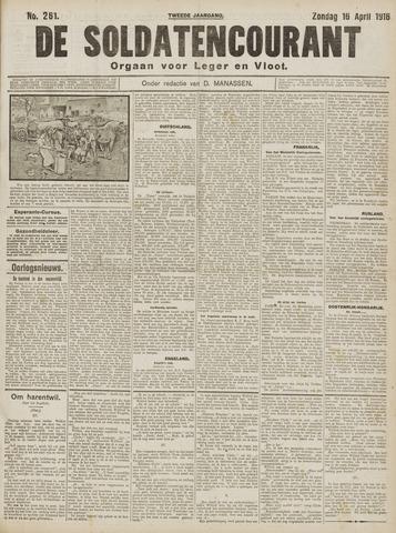 De Soldatencourant. Orgaan voor Leger en Vloot 1916-04-16