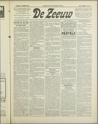 De Zeeuw. Christelijk-historisch nieuwsblad voor Zeeland 1934-12-01