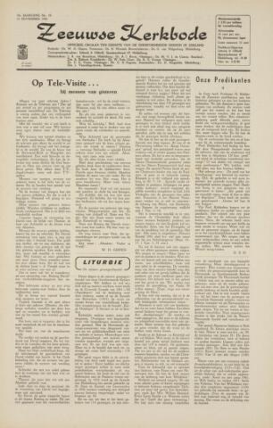 Zeeuwsche kerkbode, weekblad gewijd aan de belangen der gereformeerde kerken/ Zeeuwsch kerkblad 1964-11-13