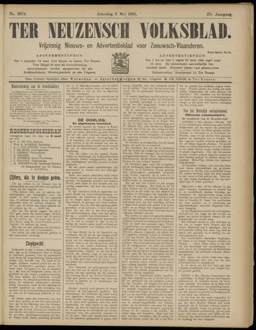 Ter Neuzensch Volksblad. Vrijzinnig nieuws- en advertentieblad voor Zeeuwsch- Vlaanderen / Zeeuwsch Nieuwsblad. Nieuws- en advertentieblad voor Zeeland 1916-05-06