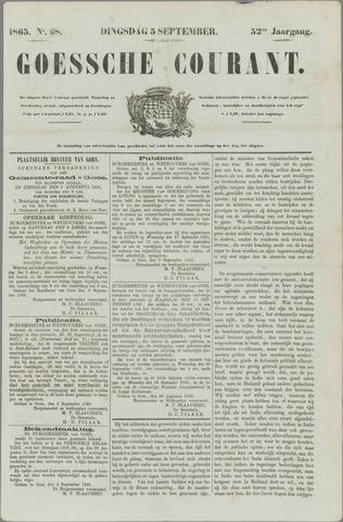 Goessche Courant 1865-09-05
