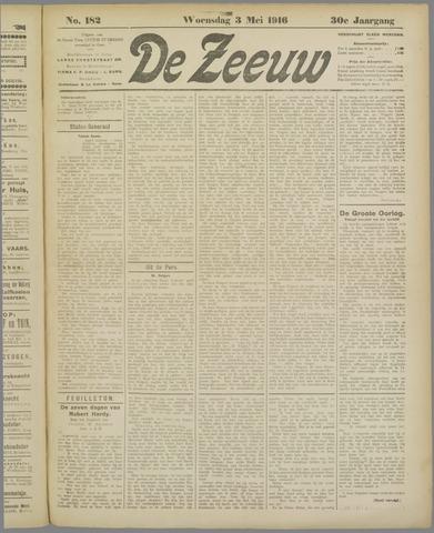 De Zeeuw. Christelijk-historisch nieuwsblad voor Zeeland 1916-05-03