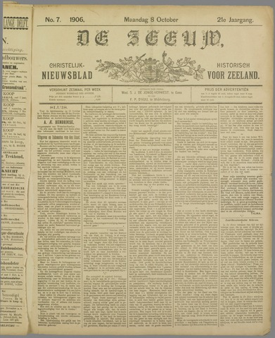 De Zeeuw. Christelijk-historisch nieuwsblad voor Zeeland 1906-10-08