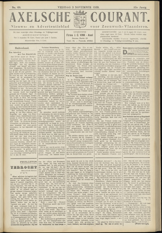 Axelsche Courant 1939-11-03