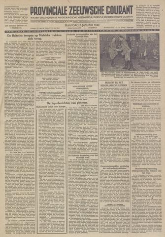 Provinciale Zeeuwse Courant 1942-01-05