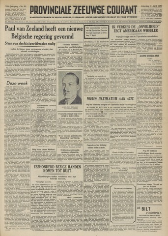 Provinciale Zeeuwse Courant 1950-04-08