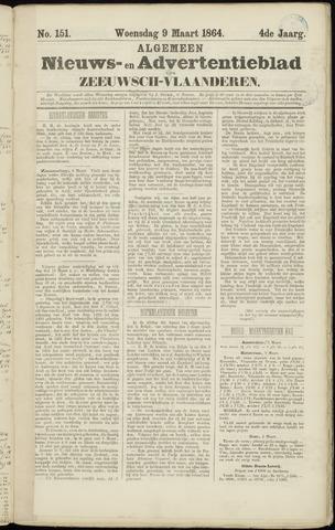 Ter Neuzensche Courant. Algemeen Nieuws- en Advertentieblad voor Zeeuwsch-Vlaanderen / Neuzensche Courant ... (idem) / (Algemeen) nieuws en advertentieblad voor Zeeuwsch-Vlaanderen 1864-03-09