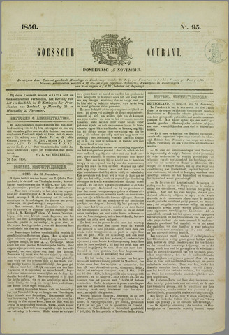 Goessche Courant 1850-11-28