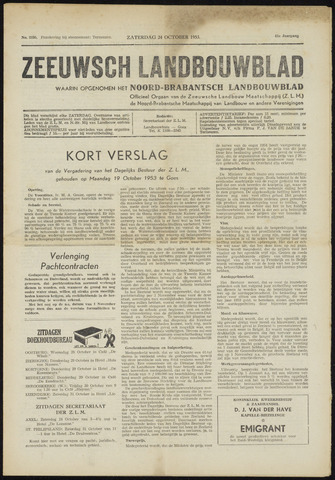 Zeeuwsch landbouwblad ... ZLM land- en tuinbouwblad 1953-10-24