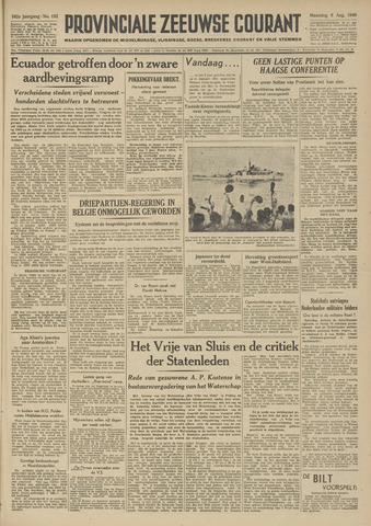 Provinciale Zeeuwse Courant 1949-08-08