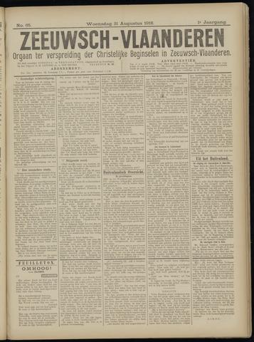 Luctor et Emergo. Antirevolutionair nieuws- en advertentieblad voor Zeeland / Zeeuwsch-Vlaanderen. Orgaan ter verspreiding van de christelijke beginselen in Zeeuwsch-Vlaanderen 1918-08-21