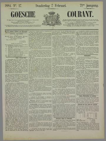 Goessche Courant 1884-02-07