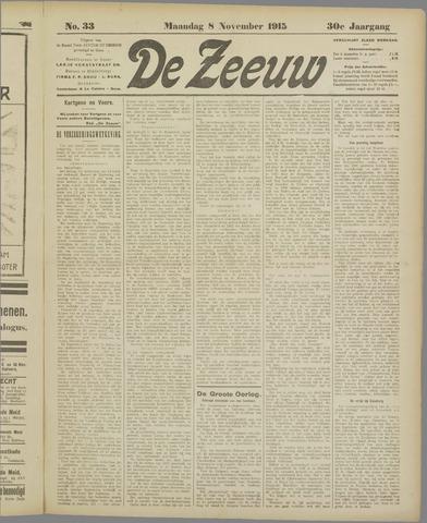 De Zeeuw. Christelijk-historisch nieuwsblad voor Zeeland 1915-11-08