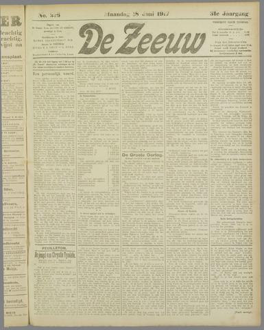 De Zeeuw. Christelijk-historisch nieuwsblad voor Zeeland 1917-06-18