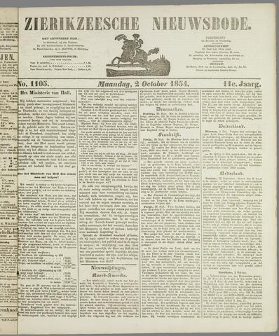 Zierikzeesche Nieuwsbode 1854-10-02