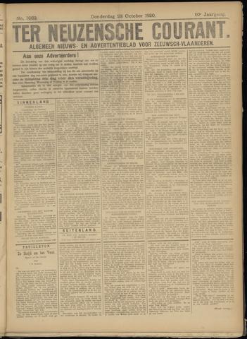 Ter Neuzensche Courant. Algemeen Nieuws- en Advertentieblad voor Zeeuwsch-Vlaanderen / Neuzensche Courant ... (idem) / (Algemeen) nieuws en advertentieblad voor Zeeuwsch-Vlaanderen 1920-10-28
