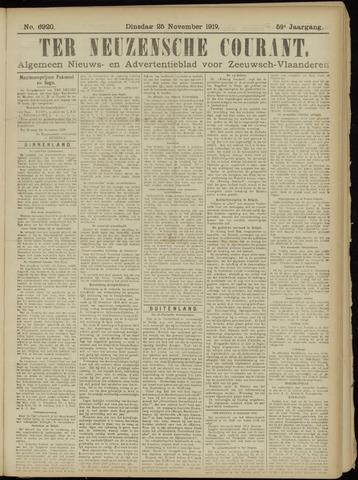 Ter Neuzensche Courant. Algemeen Nieuws- en Advertentieblad voor Zeeuwsch-Vlaanderen / Neuzensche Courant ... (idem) / (Algemeen) nieuws en advertentieblad voor Zeeuwsch-Vlaanderen 1919-11-25
