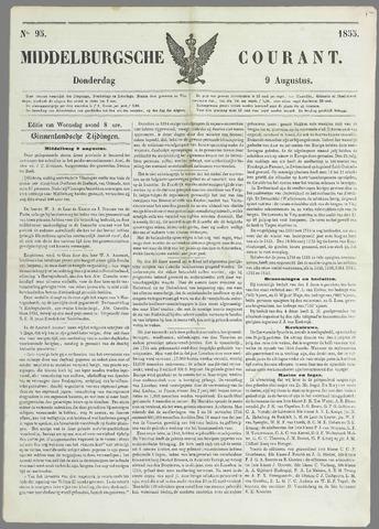 Middelburgsche Courant 1855-08-09