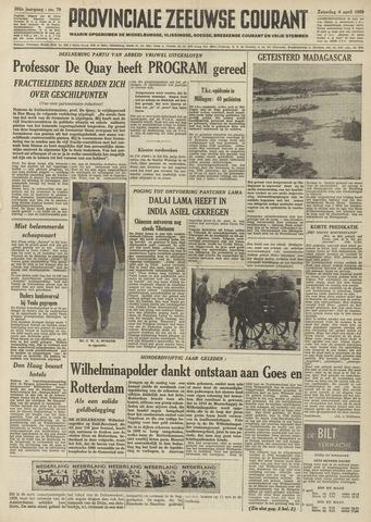 Provinciale Zeeuwse Courant 1959-04-04