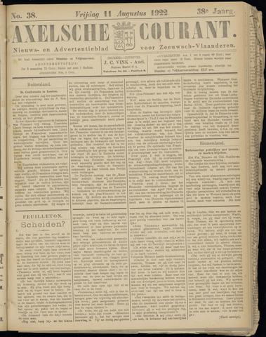 Axelsche Courant 1922-08-11