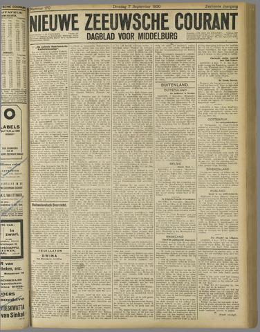 Nieuwe Zeeuwsche Courant 1920-09-07