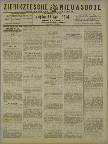 Zierikzeesche Nieuwsbode 1914-04-17