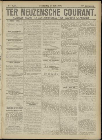 Ter Neuzensche Courant. Algemeen Nieuws- en Advertentieblad voor Zeeuwsch-Vlaanderen / Neuzensche Courant ... (idem) / (Algemeen) nieuws en advertentieblad voor Zeeuwsch-Vlaanderen 1920-07-29