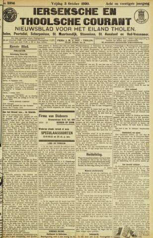 Ierseksche en Thoolsche Courant 1930-10-03