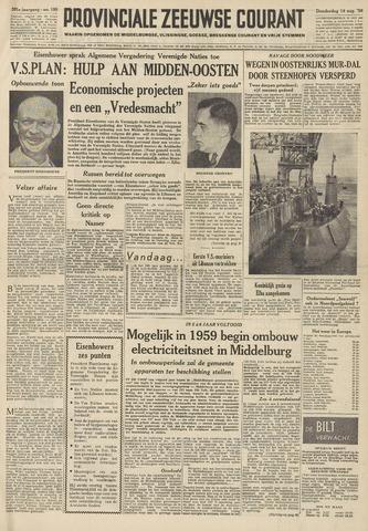 Provinciale Zeeuwse Courant 1958-08-14