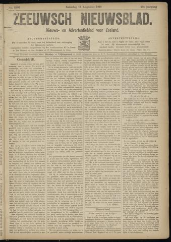 Ter Neuzensch Volksblad. Vrijzinnig nieuws- en advertentieblad voor Zeeuwsch- Vlaanderen / Zeeuwsch Nieuwsblad. Nieuws- en advertentieblad voor Zeeland 1918-08-17