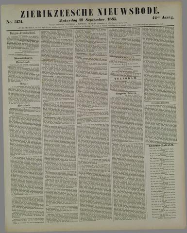 Zierikzeesche Nieuwsbode 1885-09-19