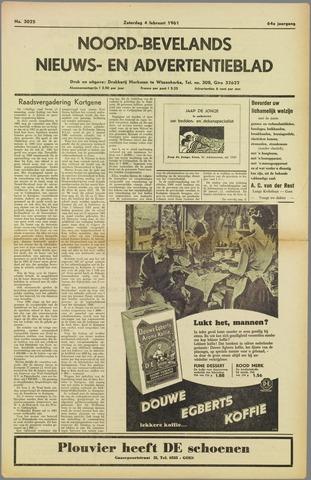 Noord-Bevelands Nieuws- en advertentieblad 1961-02-04