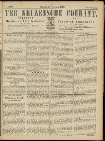 Ter Neuzensche Courant. Algemeen Nieuws- en Advertentieblad voor Zeeuwsch-Vlaanderen / Neuzensche Courant ... (idem) / (Algemeen) nieuws en advertentieblad voor Zeeuwsch-Vlaanderen 1906-02-27