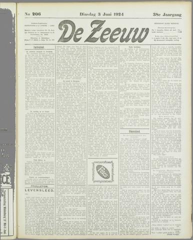 De Zeeuw. Christelijk-historisch nieuwsblad voor Zeeland 1924-06-03