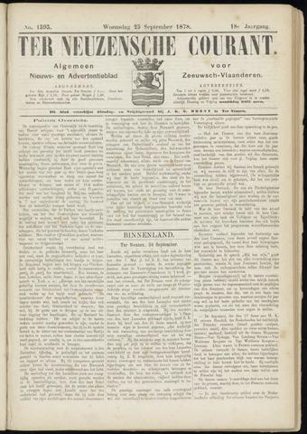 Ter Neuzensche Courant. Algemeen Nieuws- en Advertentieblad voor Zeeuwsch-Vlaanderen / Neuzensche Courant ... (idem) / (Algemeen) nieuws en advertentieblad voor Zeeuwsch-Vlaanderen 1878-09-25