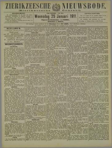 Zierikzeesche Nieuwsbode 1911-01-25