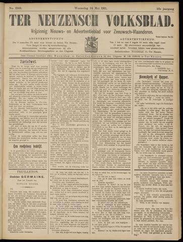 Ter Neuzensch Volksblad. Vrijzinnig nieuws- en advertentieblad voor Zeeuwsch- Vlaanderen / Zeeuwsch Nieuwsblad. Nieuws- en advertentieblad voor Zeeland 1911-05-24