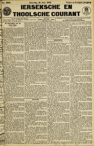 Ierseksche en Thoolsche Courant 1923-06-16