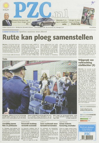 Provinciale Zeeuwse Courant 2010-10-08