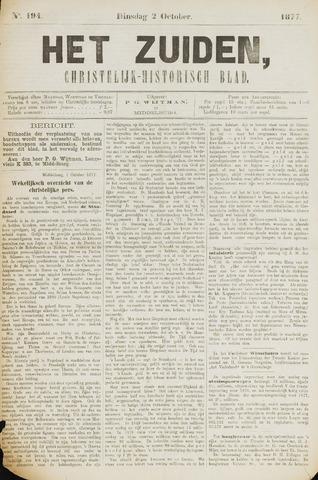 Het Zuiden, Christelijk-historisch blad 1877-10-02