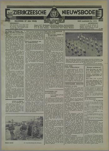 Zierikzeesche Nieuwsbode 1942-07-27