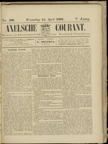 Axelsche Courant 1891-04-15