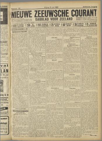 Nieuwe Zeeuwsche Courant 1922-07-21