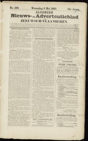 Ter Neuzensche Courant. Algemeen Nieuws- en Advertentieblad voor Zeeuwsch-Vlaanderen / Neuzensche Courant ... (idem) / (Algemeen) nieuws en advertentieblad voor Zeeuwsch-Vlaanderen 1863-05-06