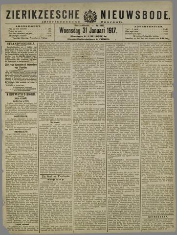 Zierikzeesche Nieuwsbode 1917-01-31