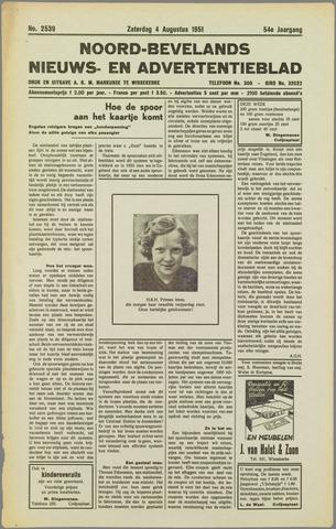 Noord-Bevelands Nieuws- en advertentieblad 1951-08-04