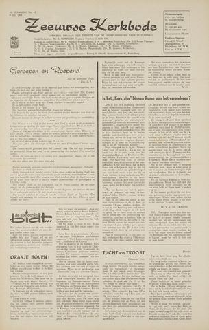 Zeeuwsche kerkbode, weekblad gewijd aan de belangen der gereformeerde kerken/ Zeeuwsch kerkblad 1968-05-09