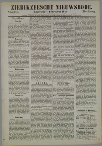 Zierikzeesche Nieuwsbode 1874-02-07